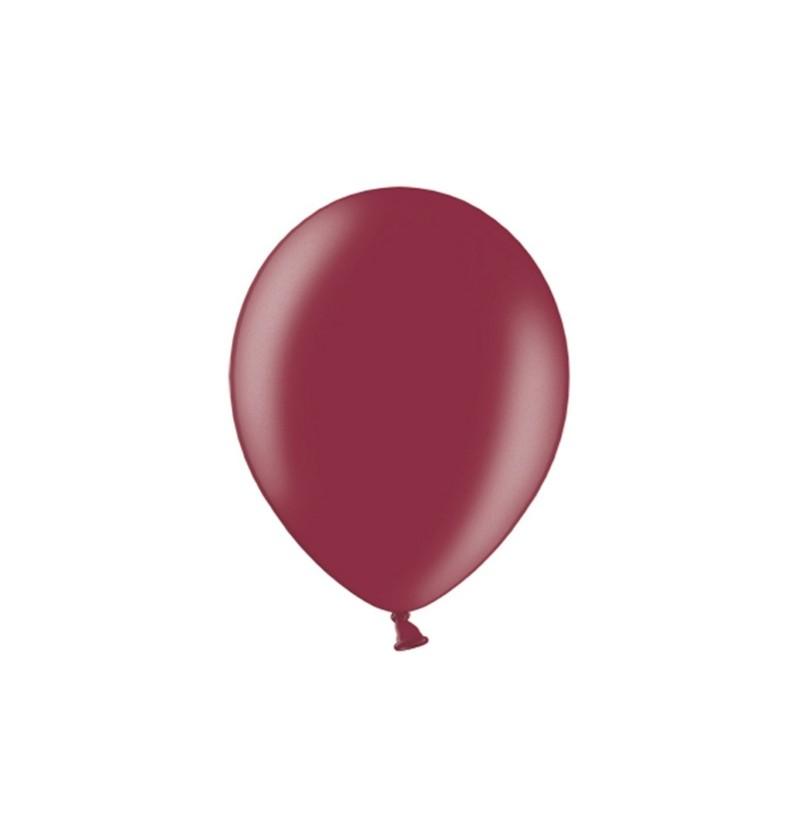 Set de 100 globos 29 cm color granate oscuro