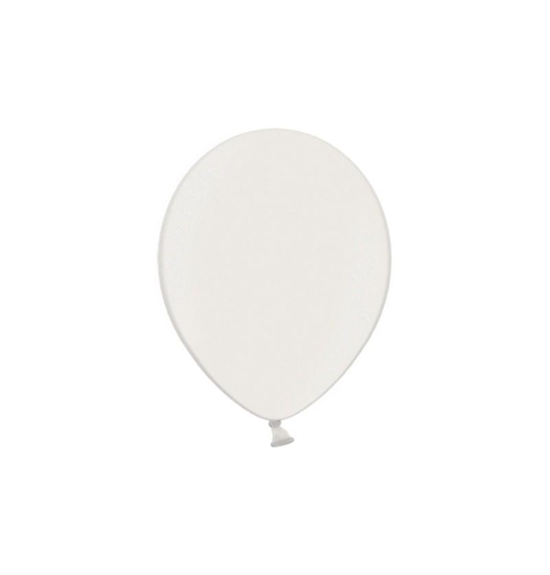 Set de 100 globos color blanco de 29 cm