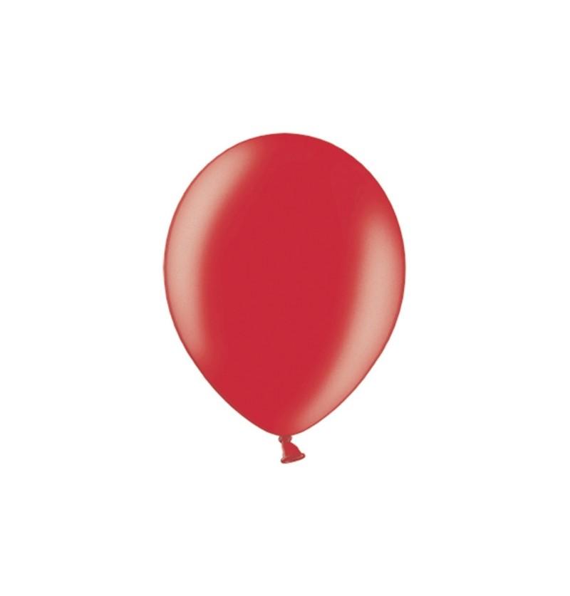 Set de 100 globos color rojo de 29 cm