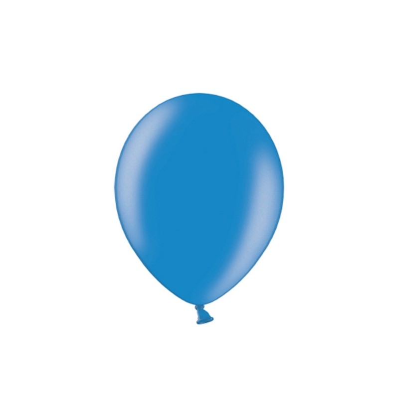 Set de 100 globos color azul de 29 cm