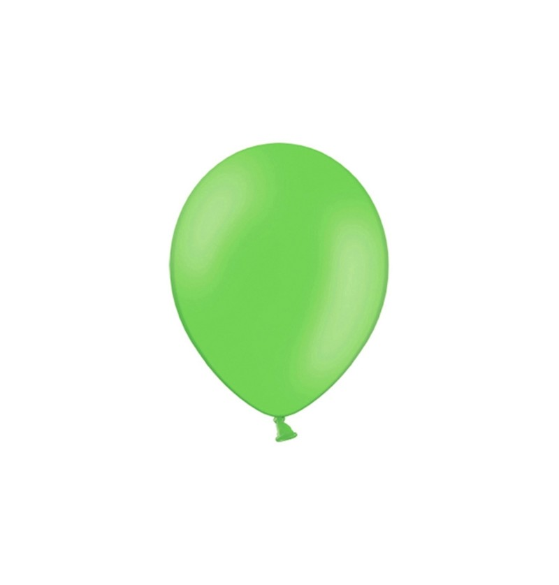 Set de 100 globos color verde manzana