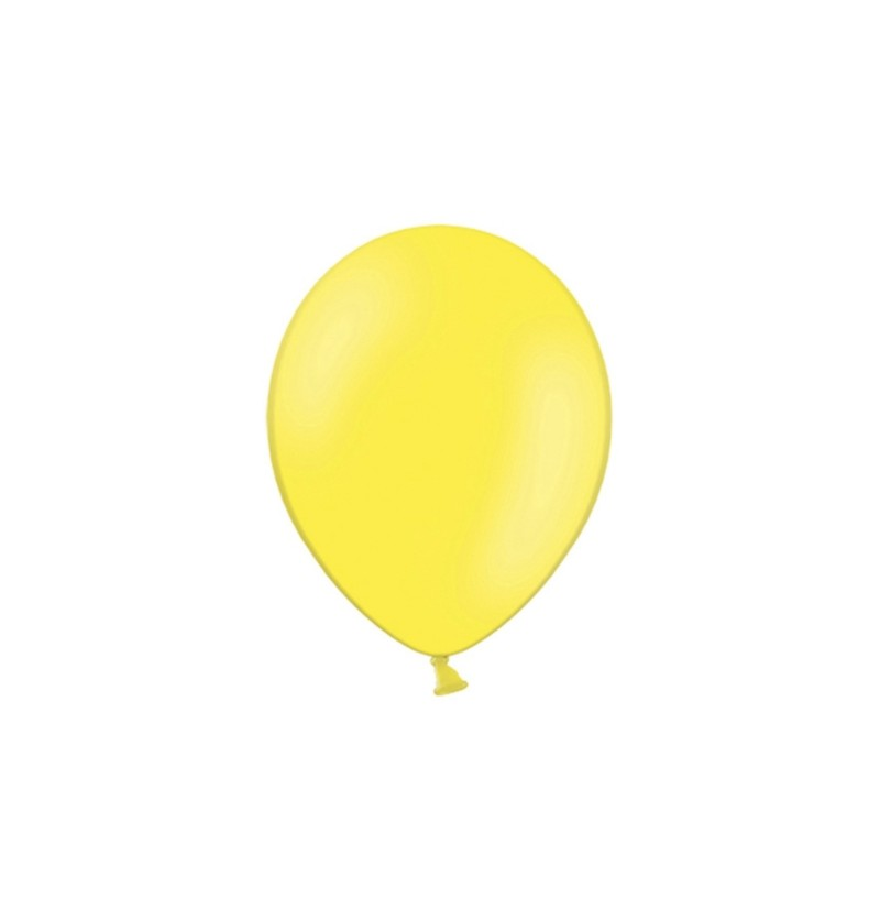 Set de 100 globos color azul amarillo fuerte