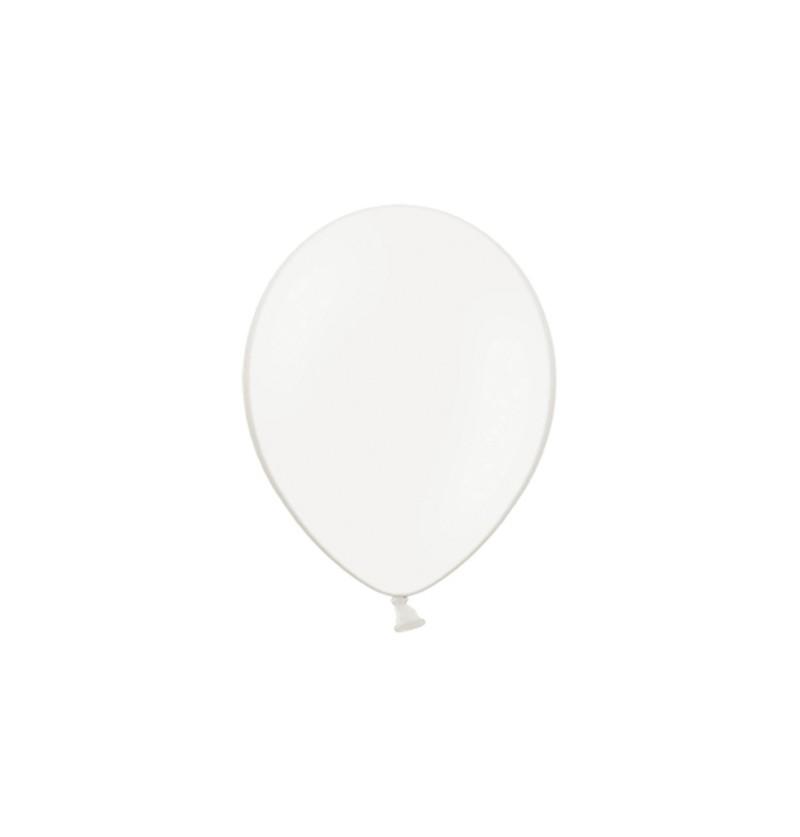 Set de 100 globos color blanco roto