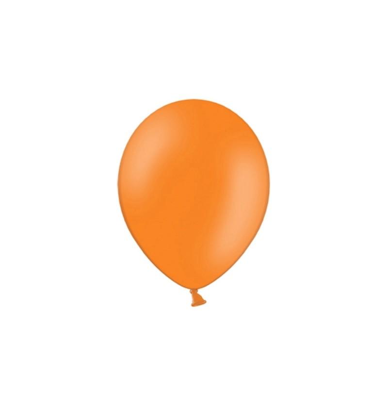Set de 100 globos color naranja oscuro
