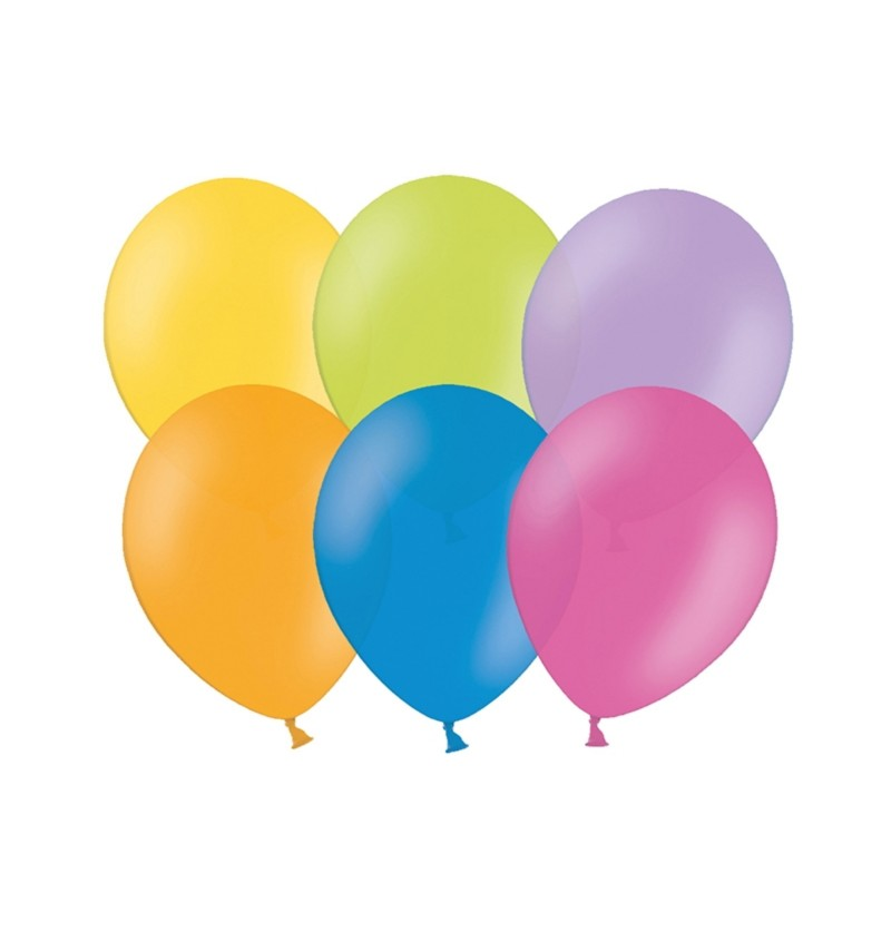 Set de 100 globos colores surtidos tonos pastel