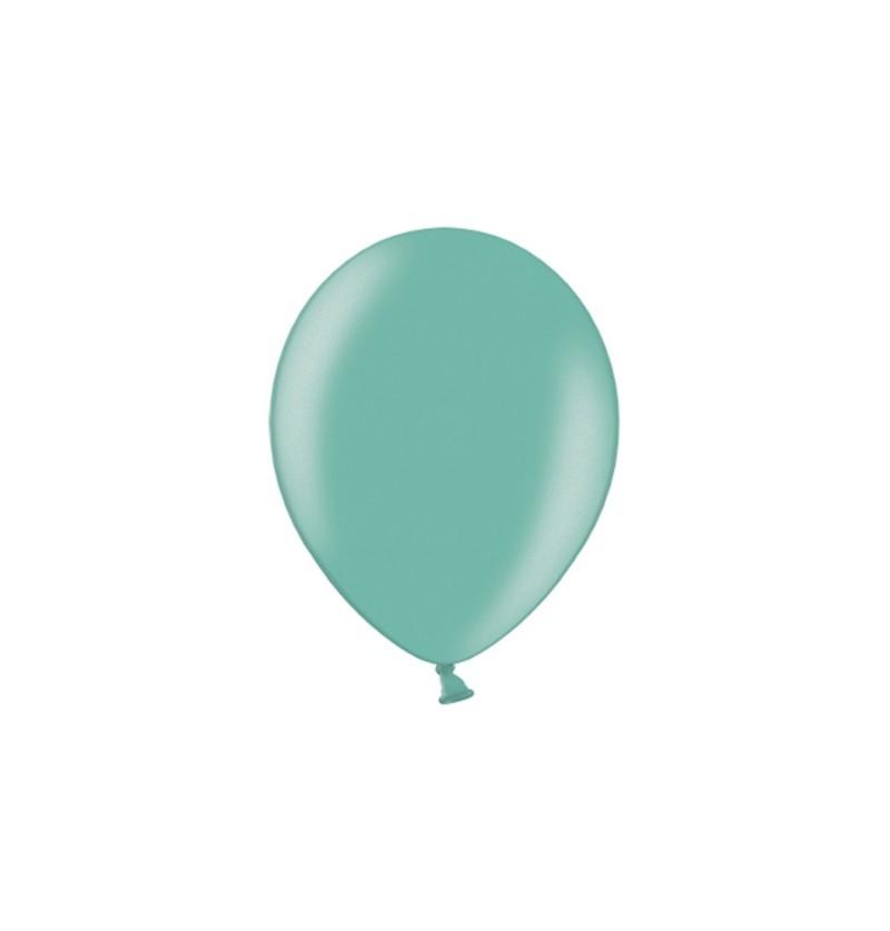 Set de 100 globos color verde menta