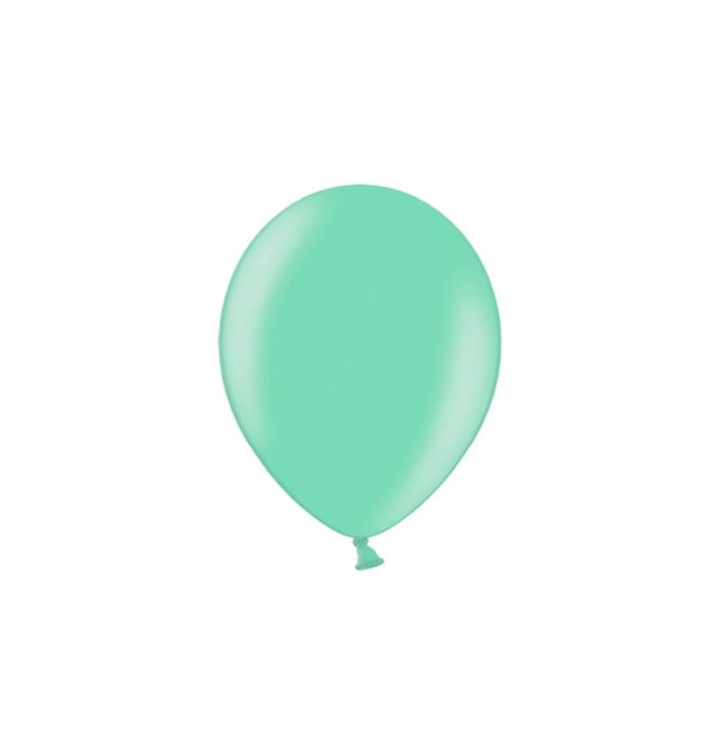 Set de 100 globos color azul verdoso