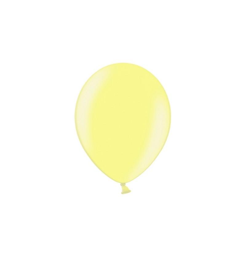 Set de 100 globos color amarillo