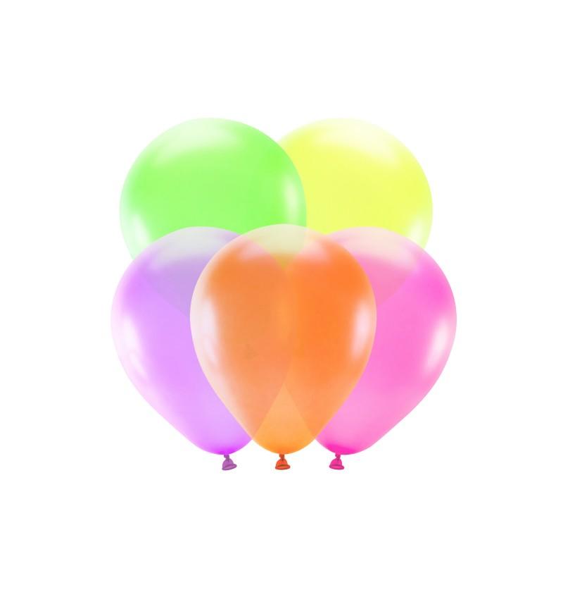 Set de 5 globos colores surtidos neón