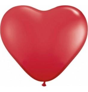 """Set de 100 globos de látex de 10 """"con forma de corazón rojo"""