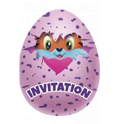 Set de 8 invitaciones Hatchimals