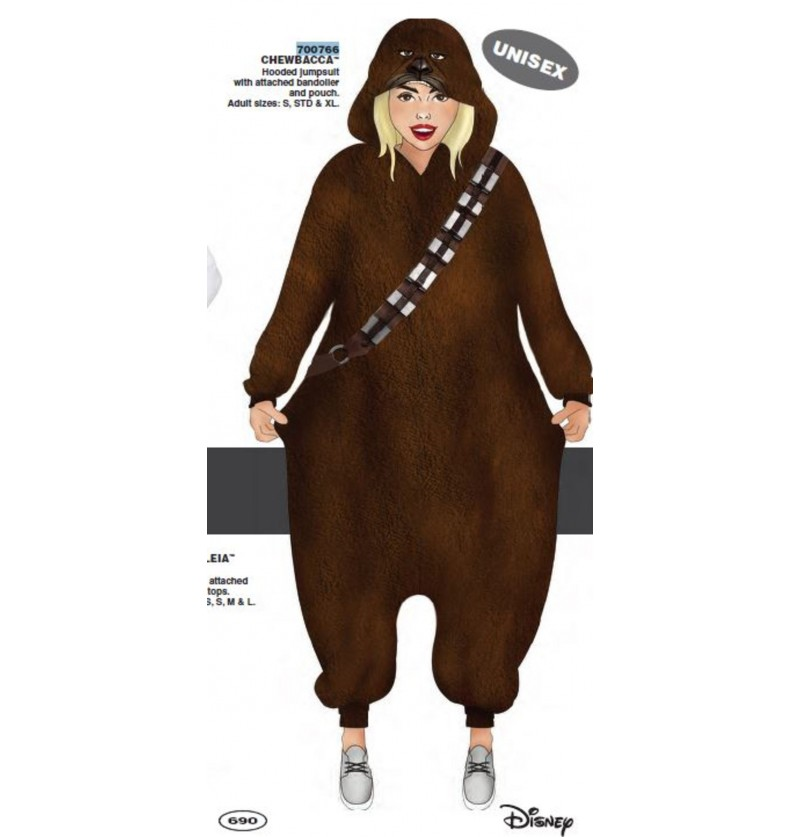 Disfraz de Chewbacca onesie para adulto - Star Wars