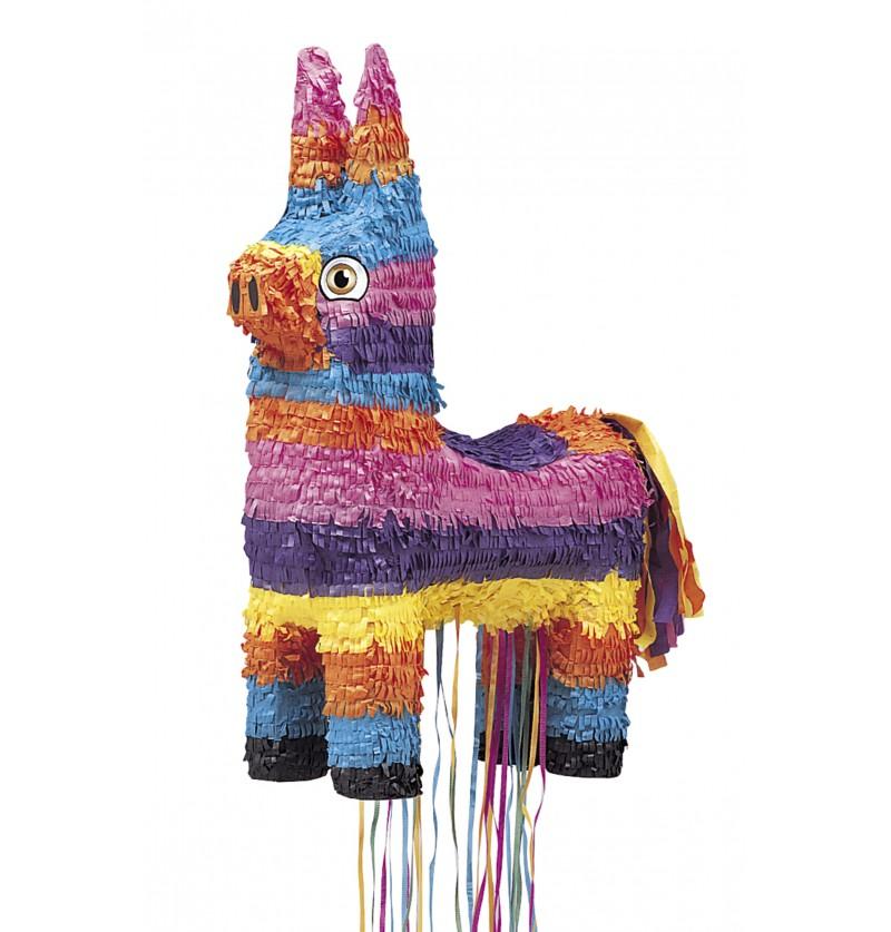 Piñata burrito multicolor con tiras 3D
