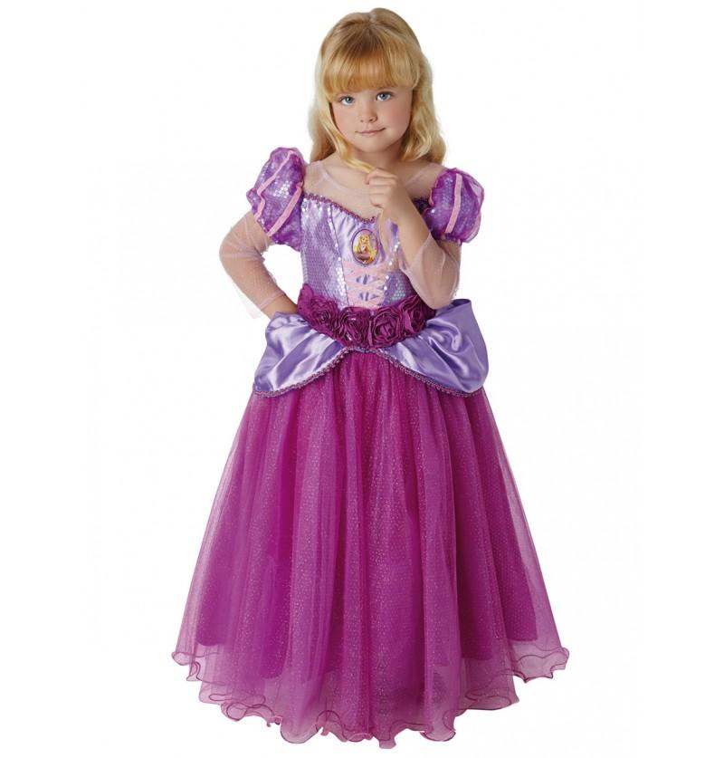 Disfraz de Rapunzel prestige para niña