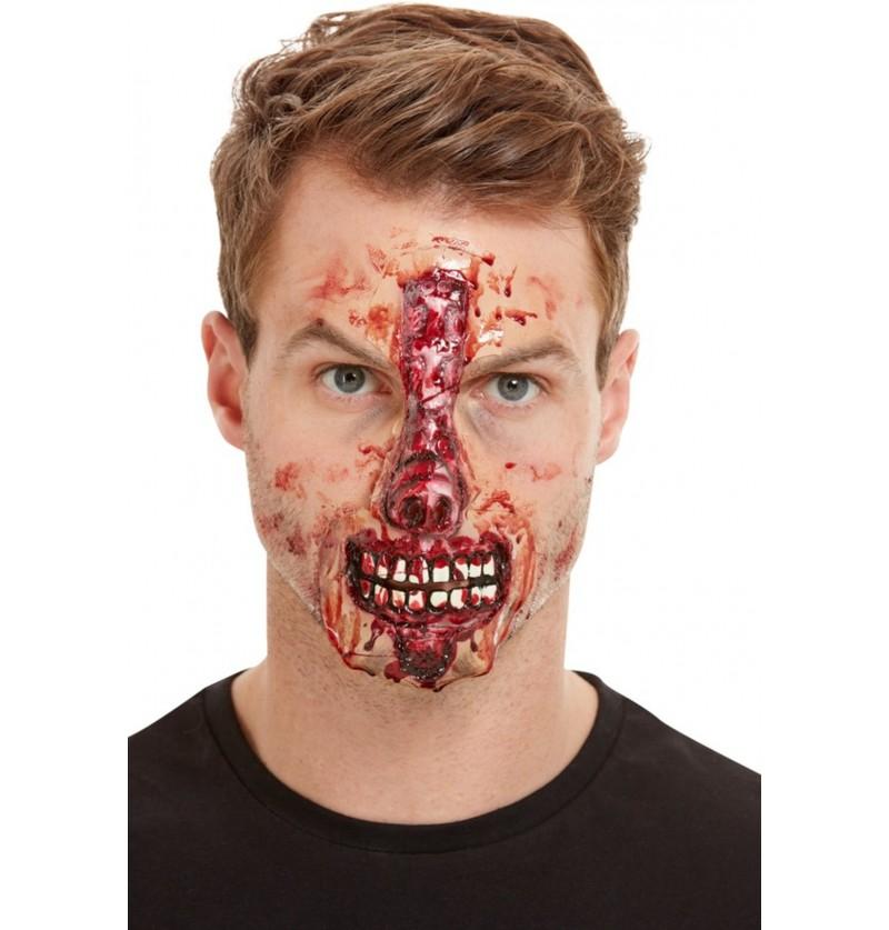 Prótesis de látex herida en la nariz para adulto