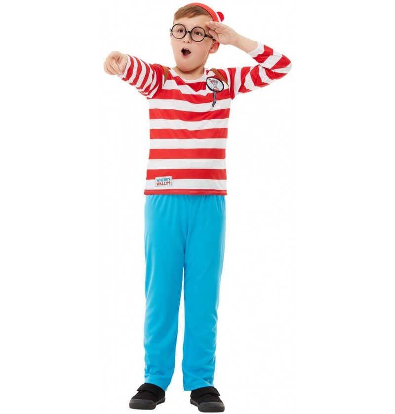 Disfraz de ¿Dónde está Wally? Deluxe para niño