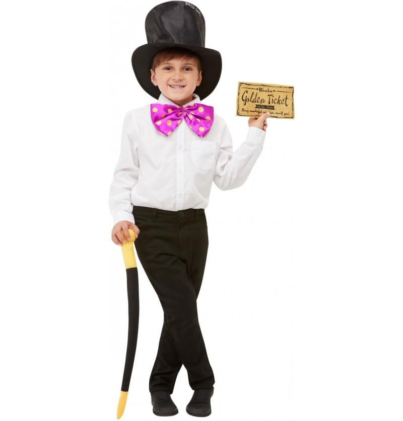 Disfraz de Willy Wonka classic para niño