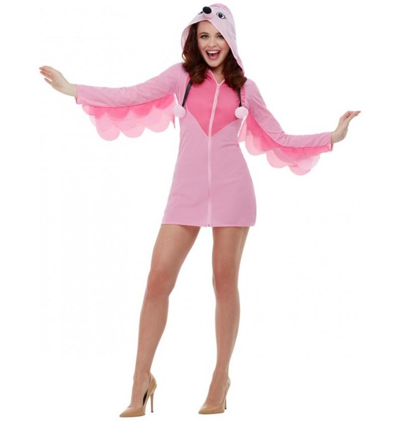 Disfraz de Flamenco rosa para mujer