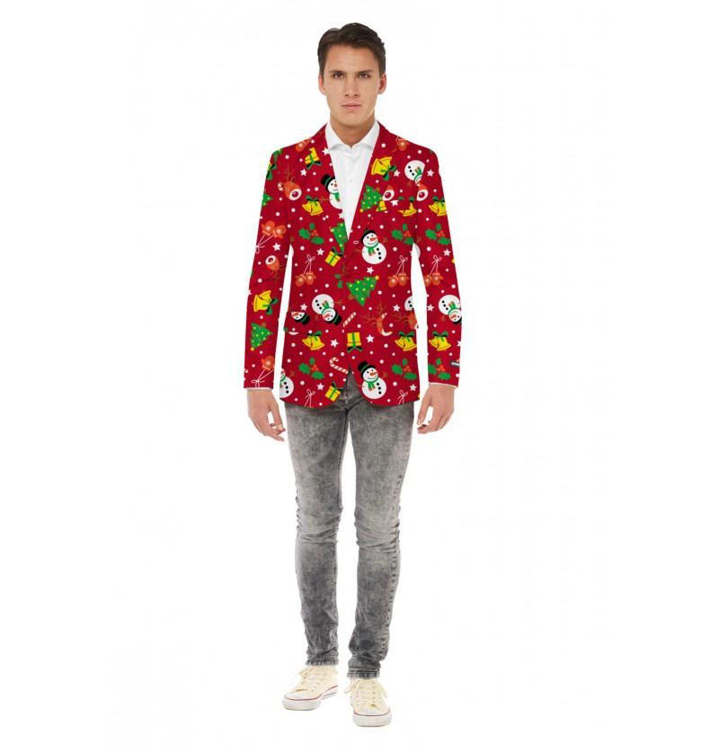 Chaqueta navideña roja Opposuits para hombre