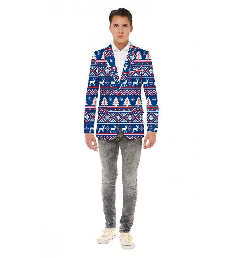Chaqueta navideña azul Opposuits para hombre
