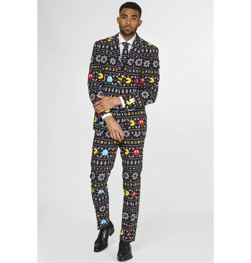 Traje de Pac-Man navideño Opposuits