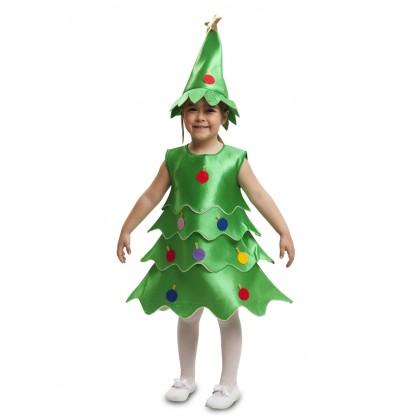 disfraz de rbol de navidad alegre para nia