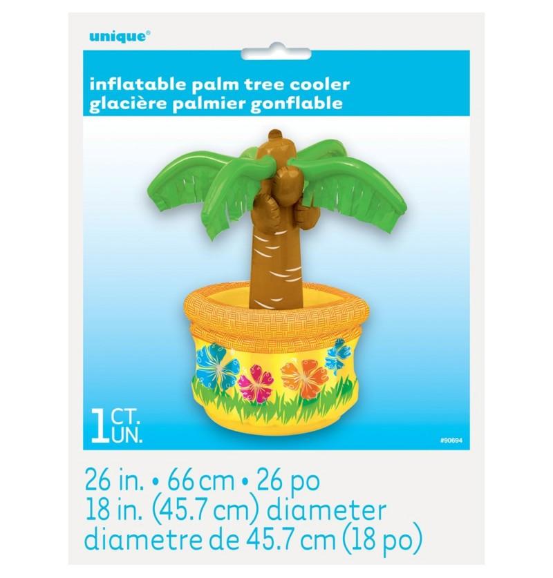 palmera hinchable con cocos