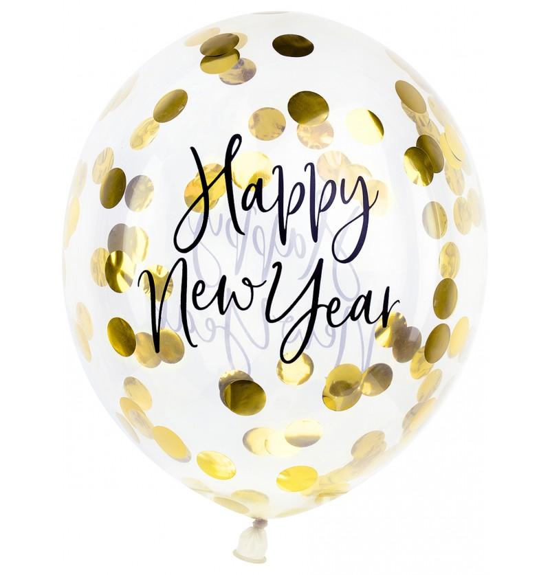 globo con confeti fin de ao happy new year 30 cm jolly new year