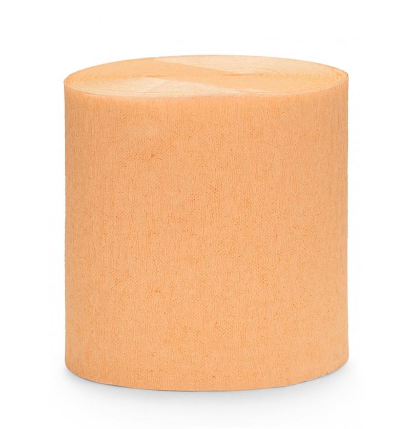 4 rollos de cintas de papel crep naranja 10m