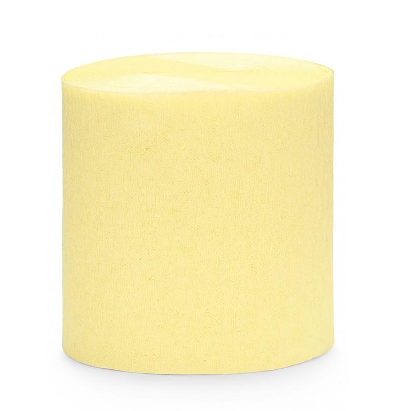 4 rollos de cintas de papel crep amarillo pastel 10m