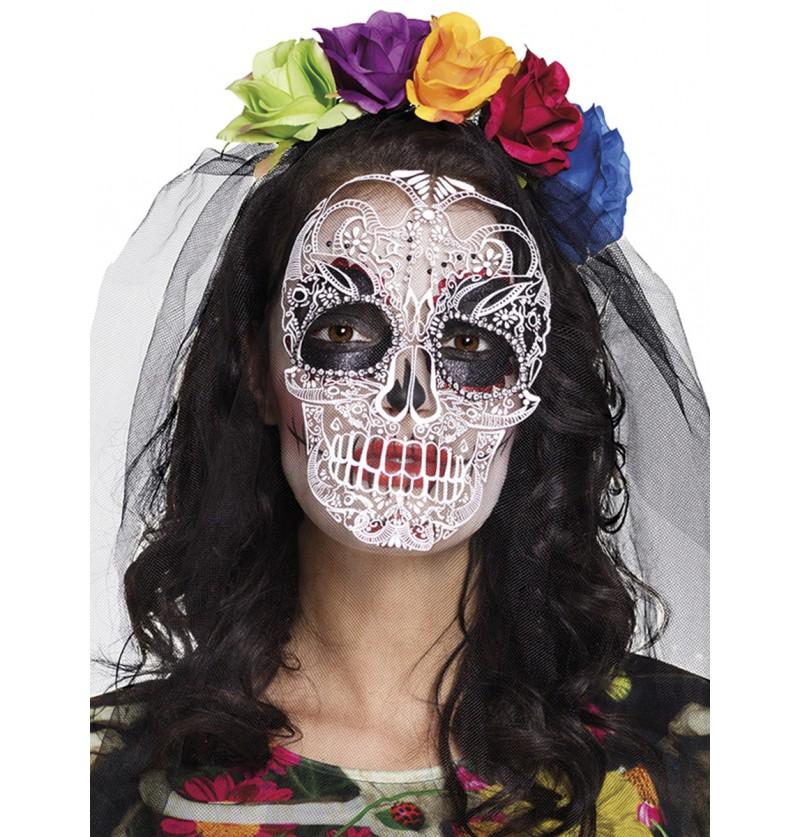 Diadema de flores muerte mexicana para mujer