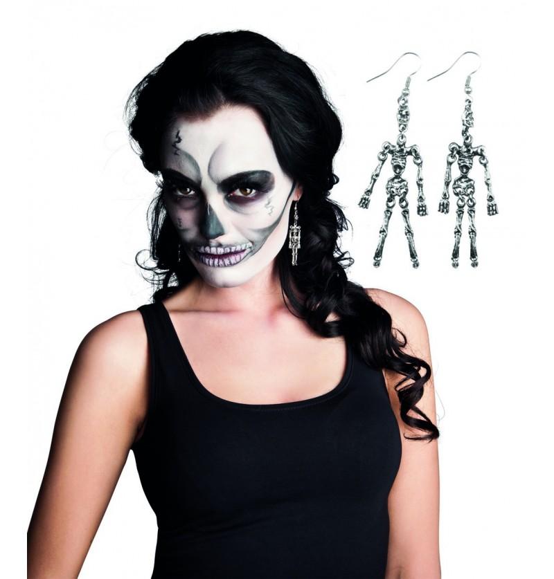 Pendientes de esqueleto para muer