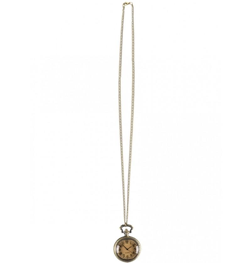 Collar con reloj steampunk