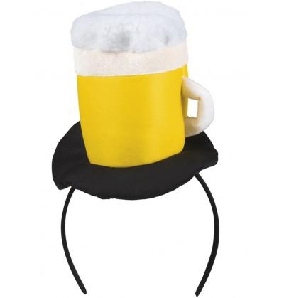 Diadema con jarra de cerveza para adulto