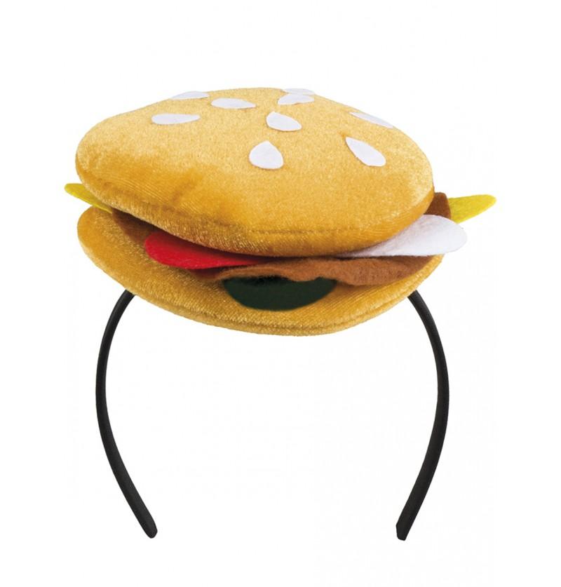 Diadema de hamburguesa para adulto