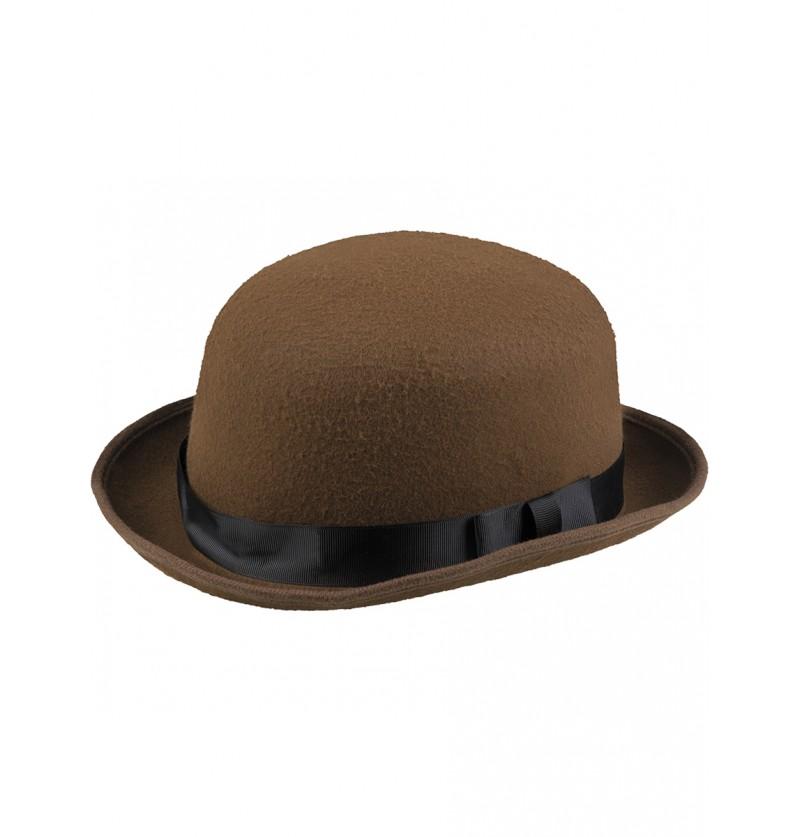Bombín steampunk marrón para adulto