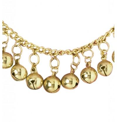 Tobillera gitana con campanas doradas para mujer