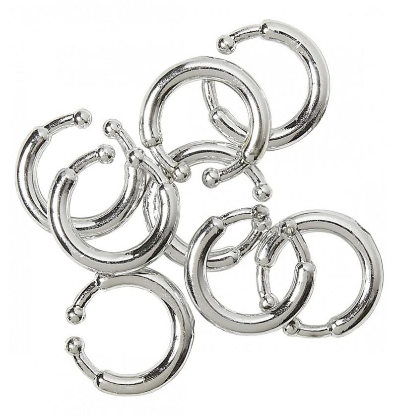 Set de 8 piercings clip on