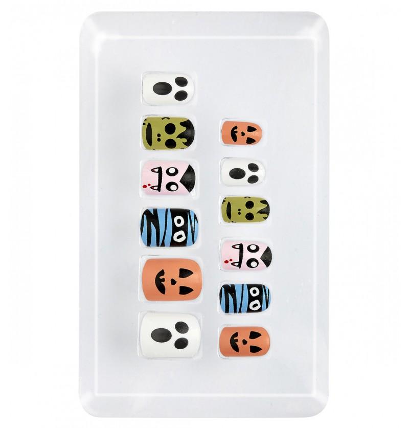 Uñas de halloween adhesivas para niña