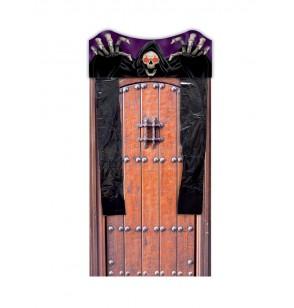 cortina para puerta de esqueleto con luz
