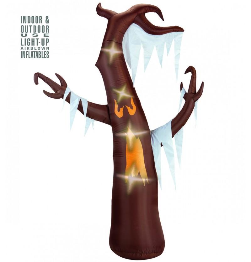 Figura decorativa de árbol fantasmagórico hinchable luminoso gigante