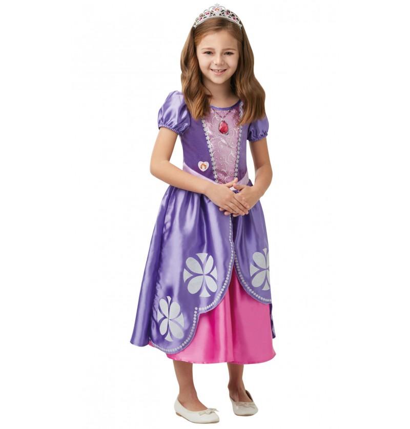 Disfraz de Princesa Sofía deluxe para niña