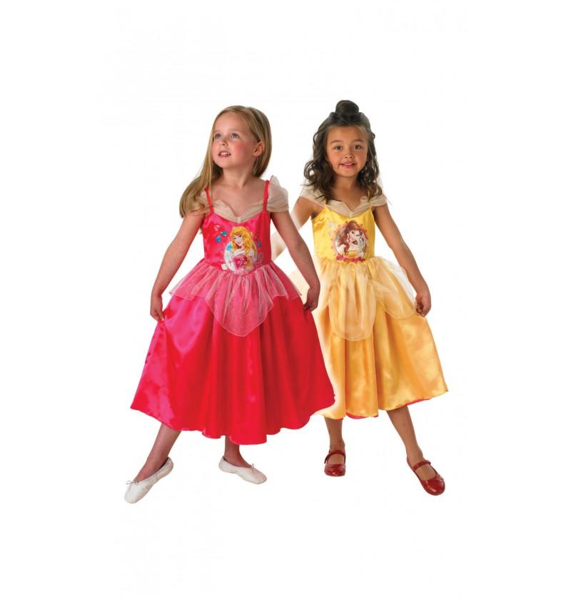 Disfraz de Aurora y Bella reversible para niña
