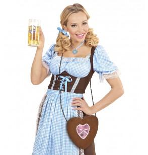 Bolso de Oktoberfest con forma de corazón