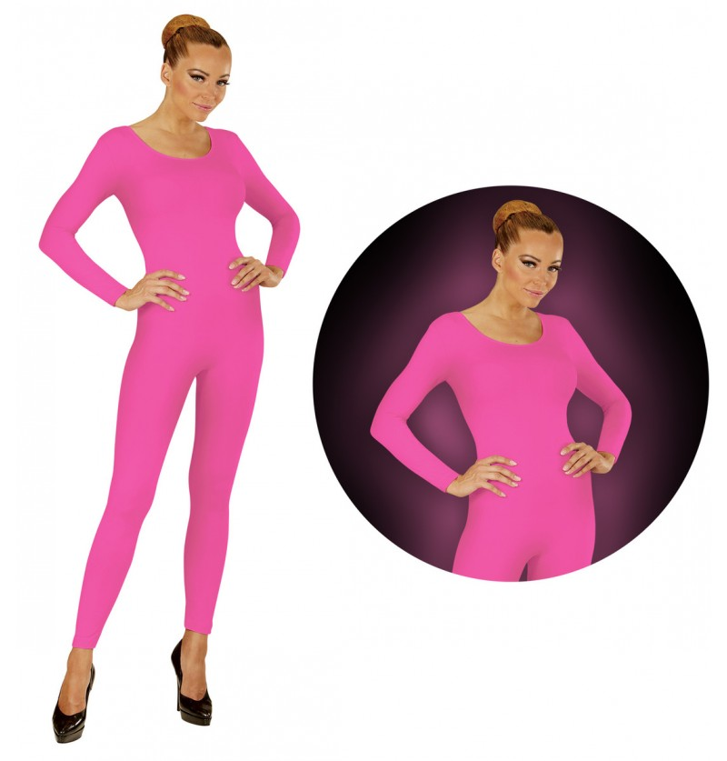 Body rosa fluorescente para mujer