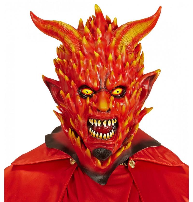 Máscara de diablo en llamas para adulto