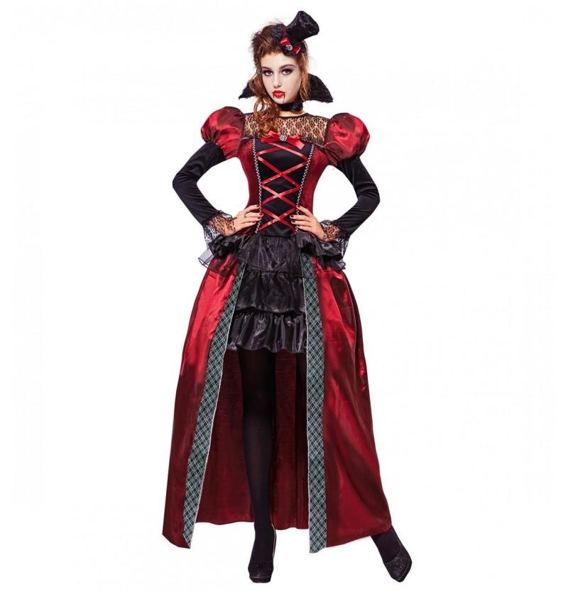 Disfraz de vampira victoriana elegante para mujer