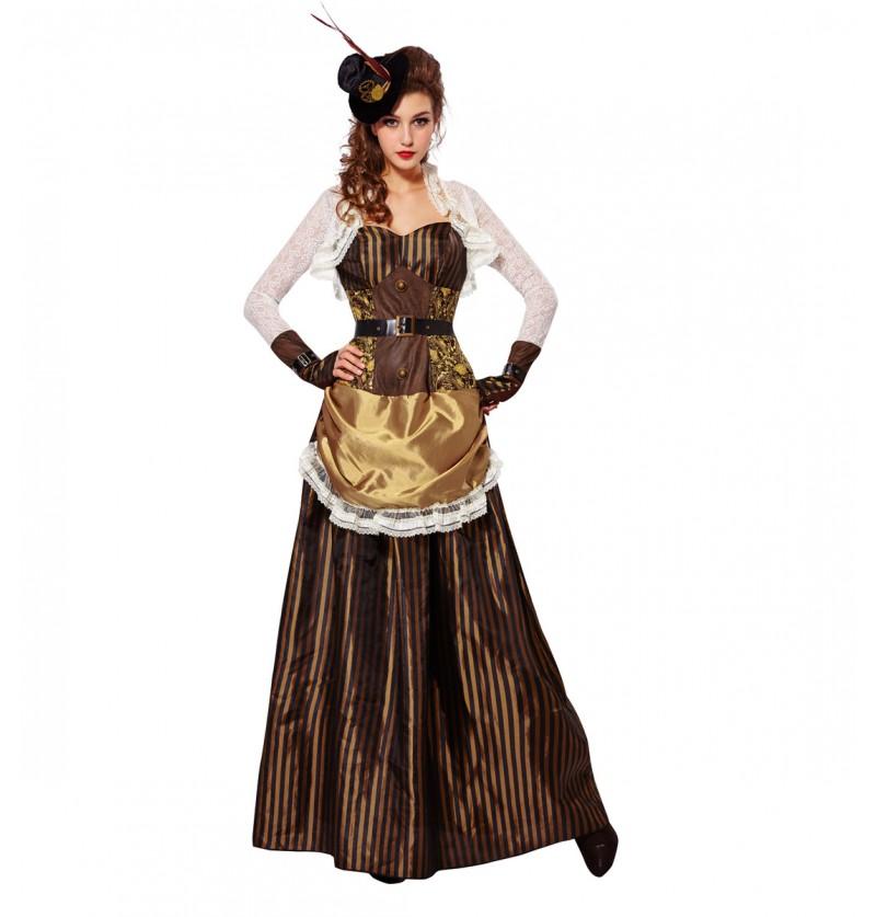Disfraz de steampunk brillante para mujer