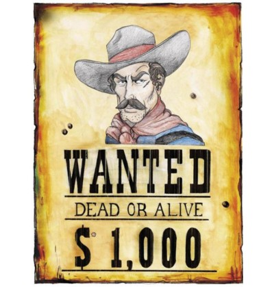cartel wanted del lejano oeste