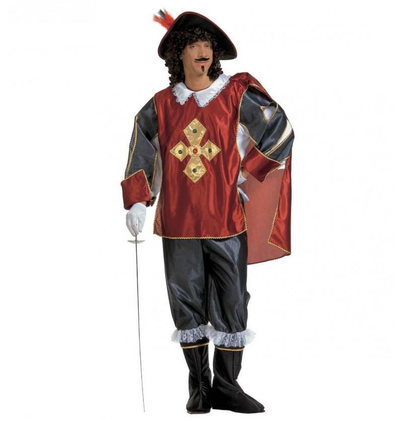Disfraz de mosquetero elegante para hombre talla grande